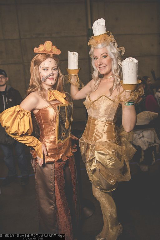 Cogsworth and Lumiere (Beauty and the Beast) / SacAnime 2017 / DTJAAAAM