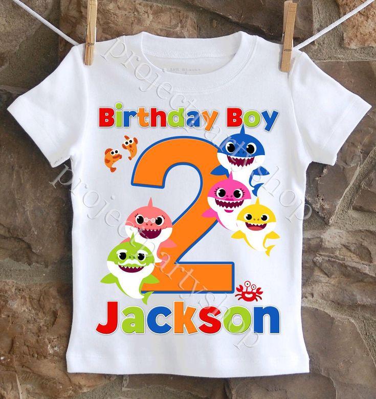 Baby shark birthday shirt baby shark birthday boy shirt
