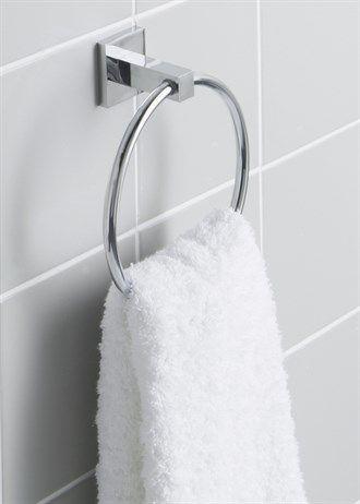 Chrome Wall Mountable Towel Ring (16cm)