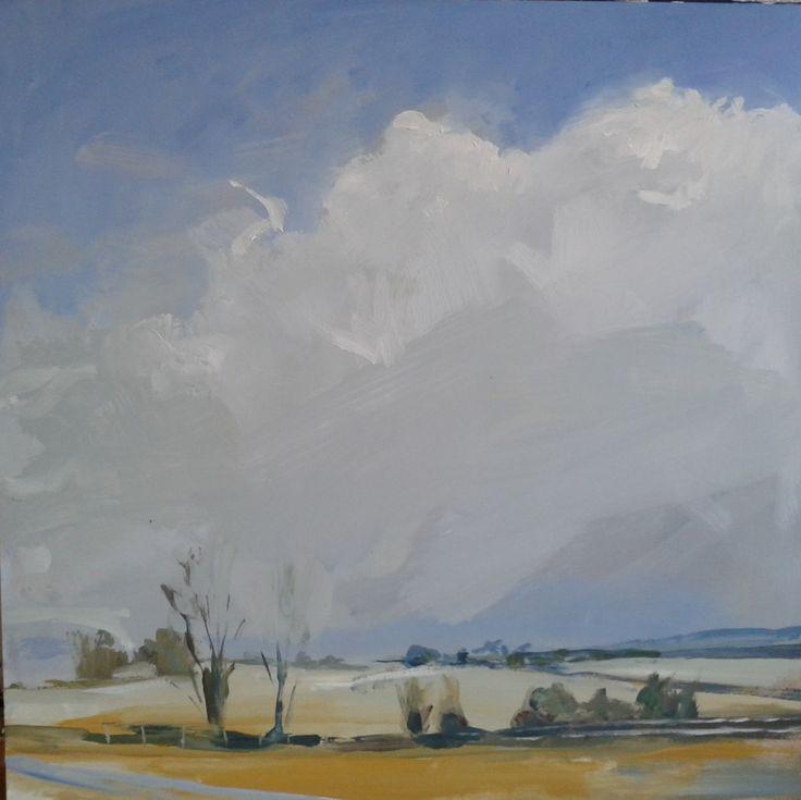 Philip Tyler Big cloud Acrylic on Board 40 x 40cm http://www.highgateart.com/ http://www.northcotegallery.com/ http://www.zimmerstewart.co.uk/