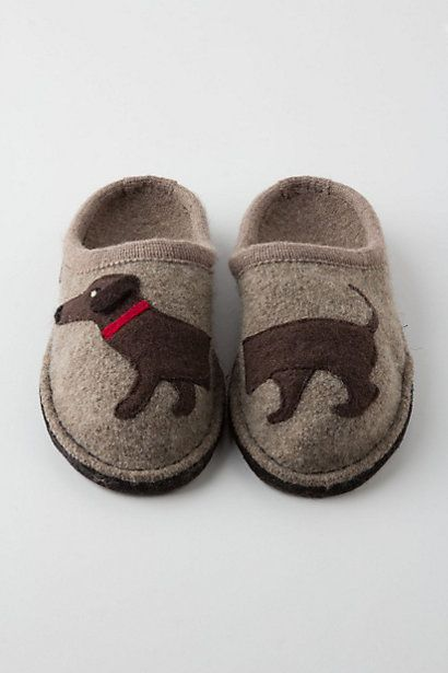 Anthropologie Haushund Wool Slippers.  SO sweet!