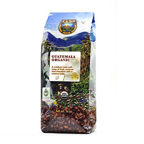 Java Planet - Guatemalan USDA Gourment Organic Coffee Beans, Medium Roast, Shade Grown, Bird Friendly, Rainforest Alliance, Arabica Gourmet Specialty Grade A - packaged in 1 LB bag * You can get more details by clicking on the image.