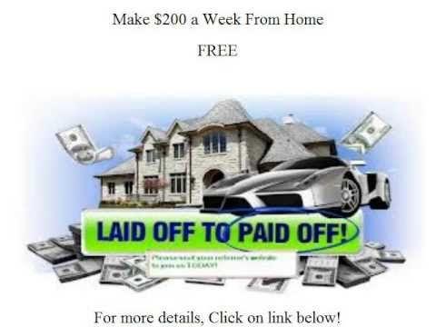 Make $200 a Week From Home http://youtu.be/i1kvEGg68tU
