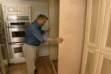 Place and Secure the Pantry and Refrigerator Enclosure