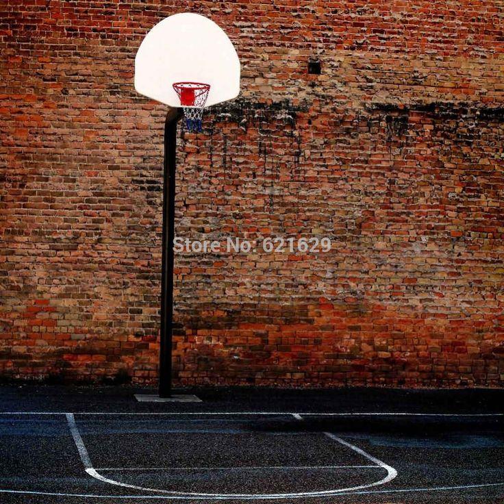 Простой Баскетбольная Площадка 10'x10 'ср Компьютерная роспись Scenic Фотография Фон Фотостудия Фон XLX-315
