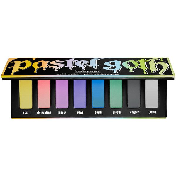 Pastel Goth Eyeshadow Palette Kat Von D ($38) ❤ liked on Polyvore featuring beauty products, makeup, eye makeup, eyeshadow, beauty, cosmetics, kat von d, palette eyeshadow, kat von d eye shadow and kat von d eyeshadow
