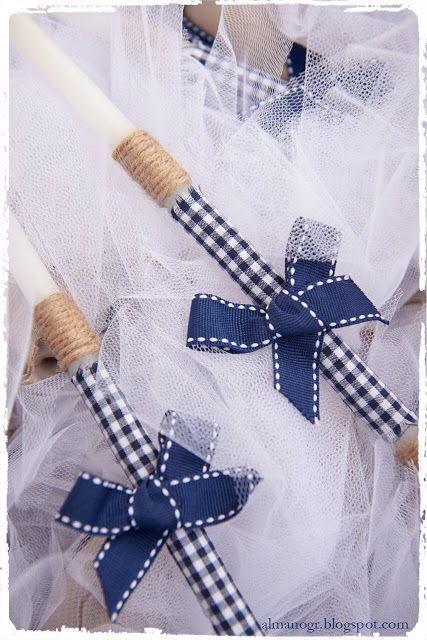 Small candles for christening decorated with natural cord, fabric and ribbon - κεράκια κολυμπήθρας στολισμένα με ύφασμα, σπάγγο και κορδέλα #candle #christeningcandle #handmadedecor #almanogr #κεράκια