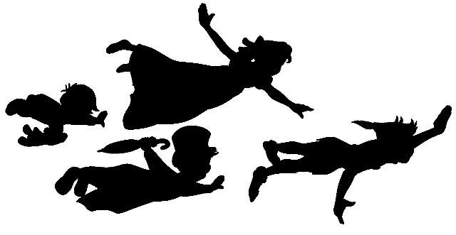 Peter Pan, Wendy, Michael and John silhouettes. Free .jpg ...
