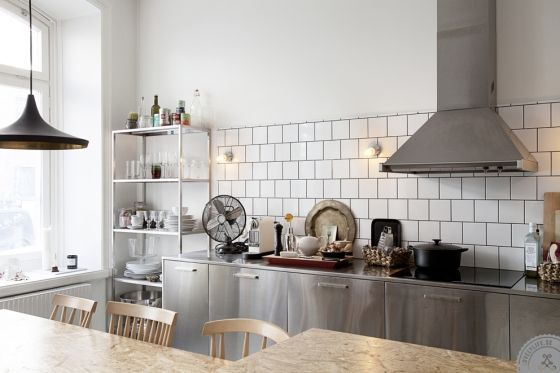 #Scandinavian Style - Family Room in Sweden #industrial #retro