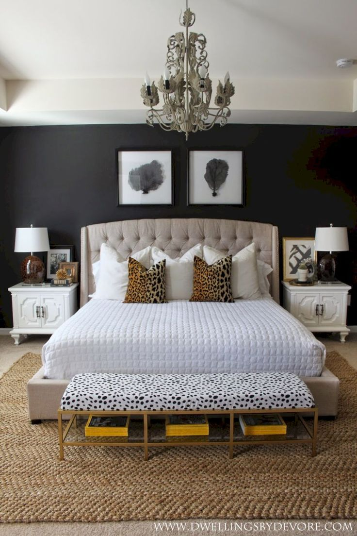 Nice 50 Stylish Black Accent Walls Bedrooms Ideas. More at https://trendecor.co/2017/10/10/50-stylish-black-accent-walls-bedrooms-ideas/