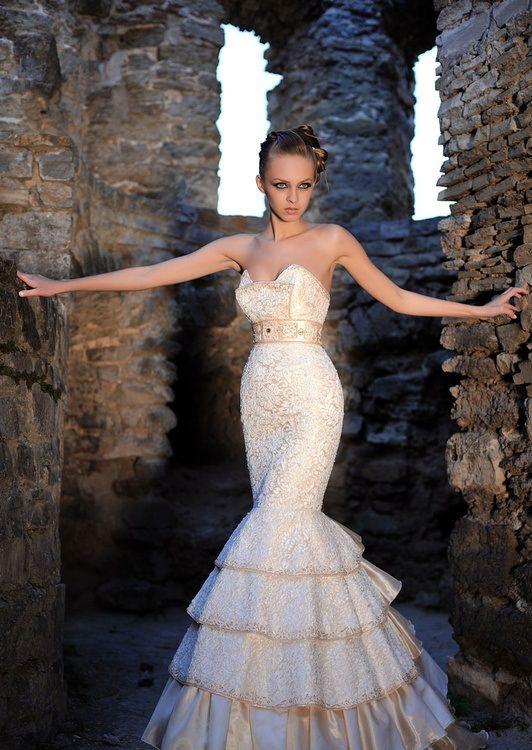 свадебные платья в стиле рыбка