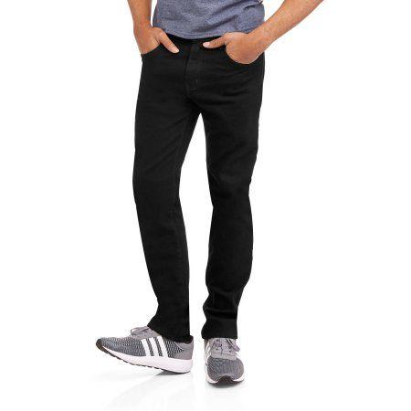 Faded Glory Men's Skinny Fit Jeans, Size: 40 x 30, Black
