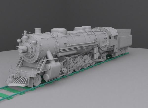 CGI - $25 - steam locomotive 3d model - Steam locomotive... by cyberniee
