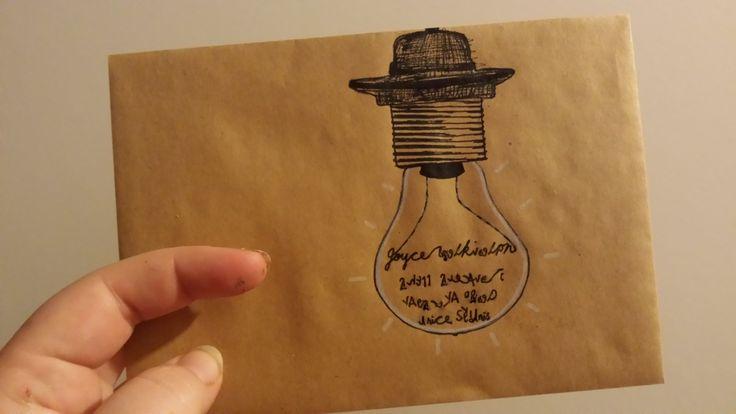 lightbulb envelope - http://ineffable-inow.blogspot.be