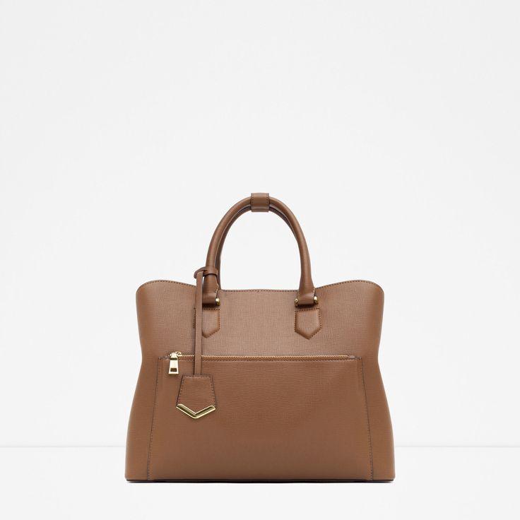 Zara | Brown Office City Bag | Lyst