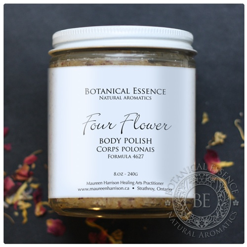 Four Flower Body Polish A gentle exfoliant, which leaves skin smooth and moist with a subtle herbal – floral aroma.