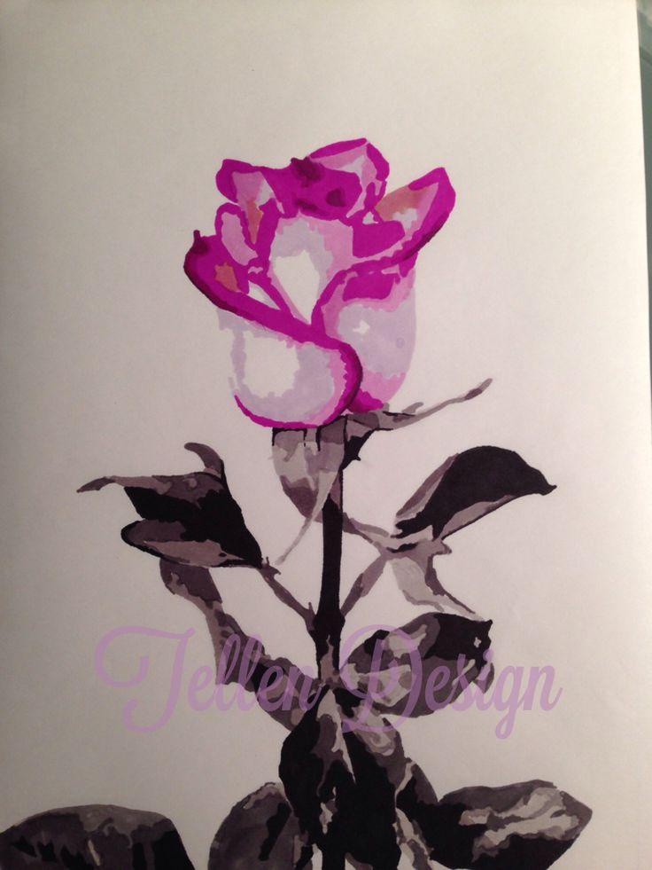 Rose, promarkers, art, #tellendesign