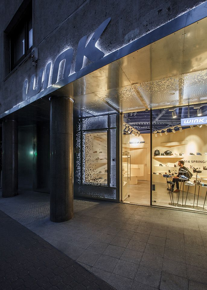 WINK Store in Fashion Street, Budapest, Hungary.  Designed by Spora Architects.