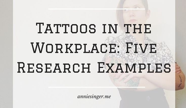 Tattoos in the workplace- research