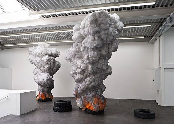 Billowing Tire Sculptures