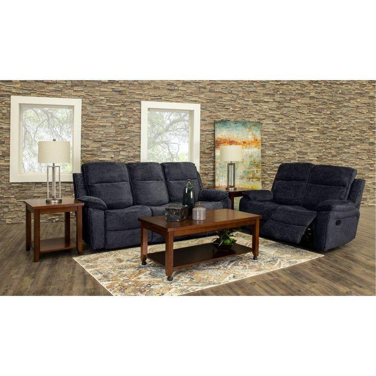 Best Navy Blue 7 Piece Reclining Living Room Set Castaway 640 x 480
