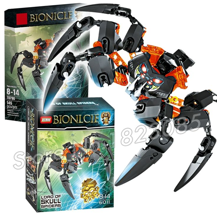 12.99$  Buy now - http://ali0hk.shopchina.info/go.php?t=32793432630 - 145pcs Bela Bionicle Hero Lord of Skull Spiders Model Building Blocks Action Bricks Toys Compatible With Lego  #magazineonlinewebsite