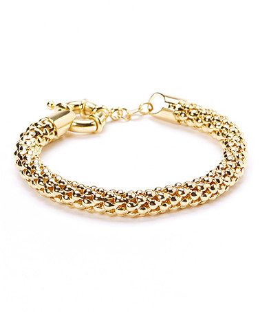 This Gold Popcorn Mesh Bracelet is perfect! #zulilyfinds