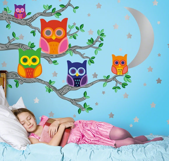Owl bedroom stickers