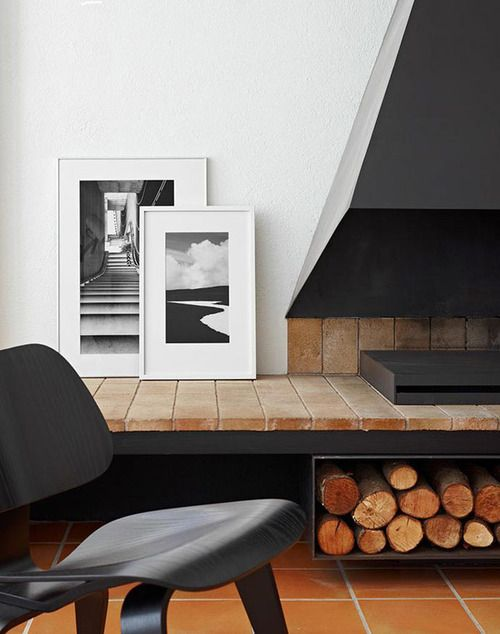 nice hearth, steel plate timber store & sculptured mantle