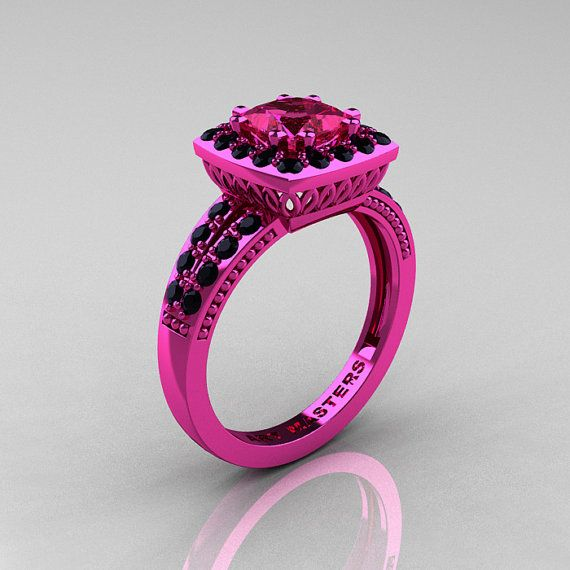 Classic 14K Pink Gold 1.23 Carat Princess Pink by artmasters, $3099.00