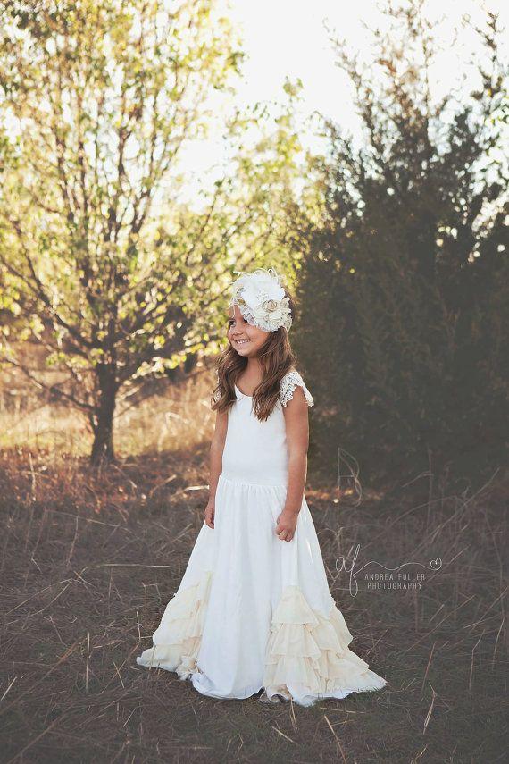 flower girl dresses, vintage flower girl, Girl dress, flower girl dress, toddler dress, baby dress dress, boho dress, maxi flower girl dress