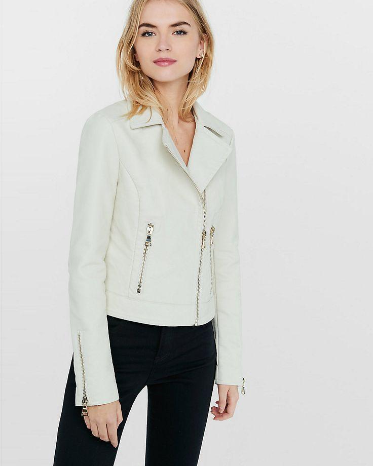 white (minus the) leather moto jacket xs