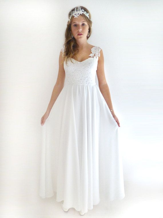 dress custom made chiffon wedding gown ivory lace wedding dress bridal