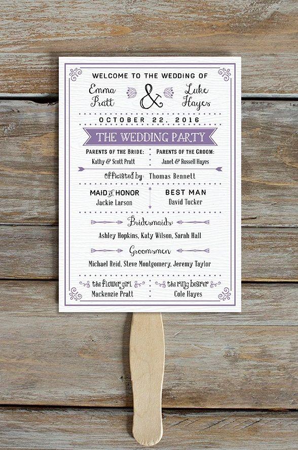 15 Lovely Free Printable Wedding Program Templates | visit www.freetemplateideas.com