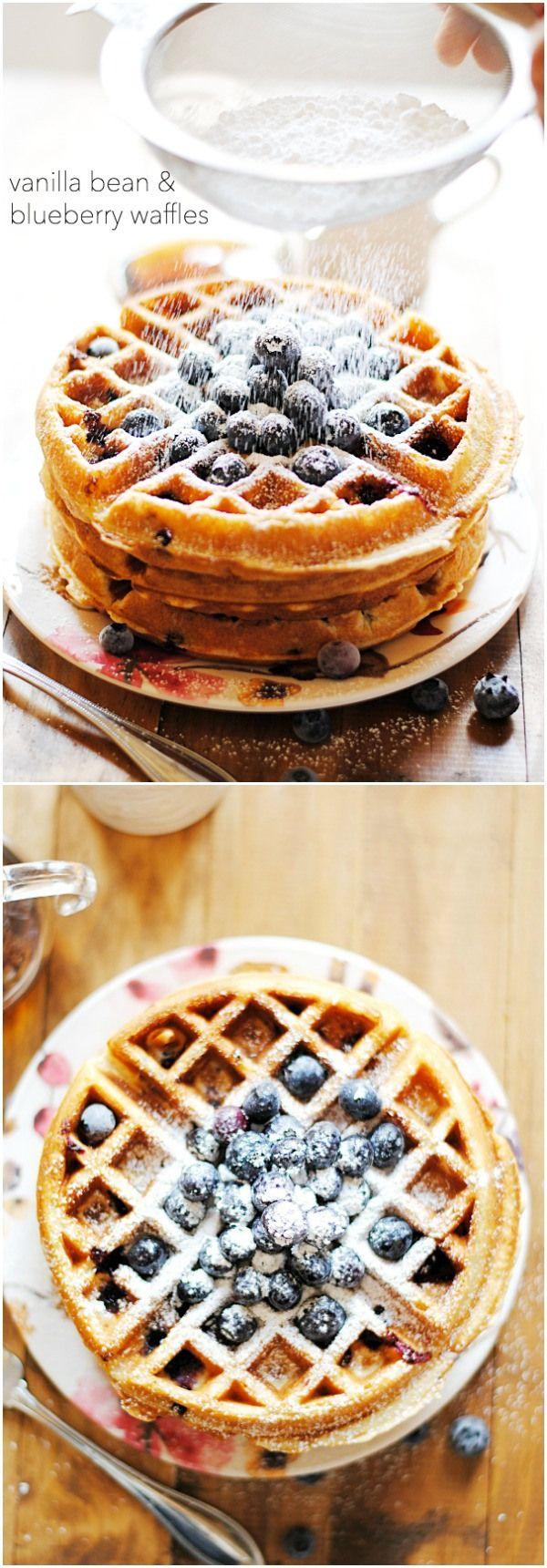 Blueberry Waffles   www.somethingswanky.com