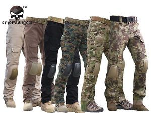 Tactical Pants with Knee Pads Emerson Camping Hiking Hunting Pants CP Mandrake | eBay