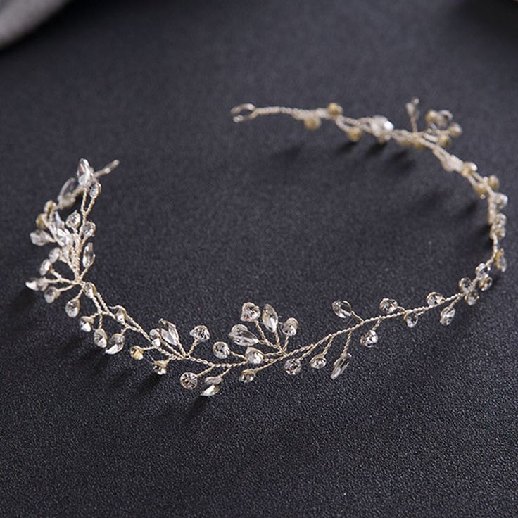 Luxury Hair Jewelry For Women Delicate Crystal Rhinestone Headbands Handmade Bride Tiaras Romantic Wedding Hair Accessories SL