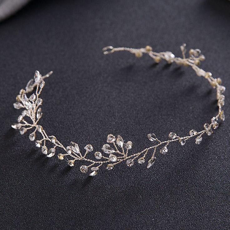 Luxury Hair Jewelry For Women Delicate Crystal Rhinestone Headbands Handmade Bride Tiaras Romantic Wedding Hair Accessories SL