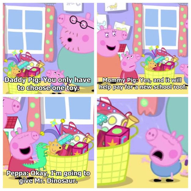 17 Times Peppa Pig Was Just An Absolute Savage Peppa Pig Funny Peppa Pig Memes Pig Memes