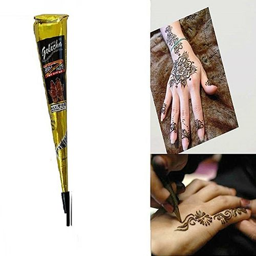 New arrival! 1Pc Temporary Tattoo Painted Quick-Drying Cream Herbal Cones Drawing Body Art #Affiliate