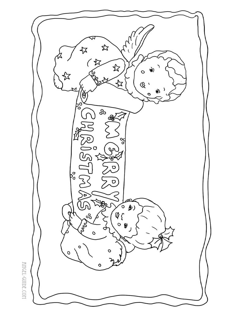 coloring pages cherubs - photo#16