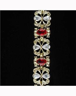 Jackie Kennedy GP Garland Bracelet with Simulated Rubies Box