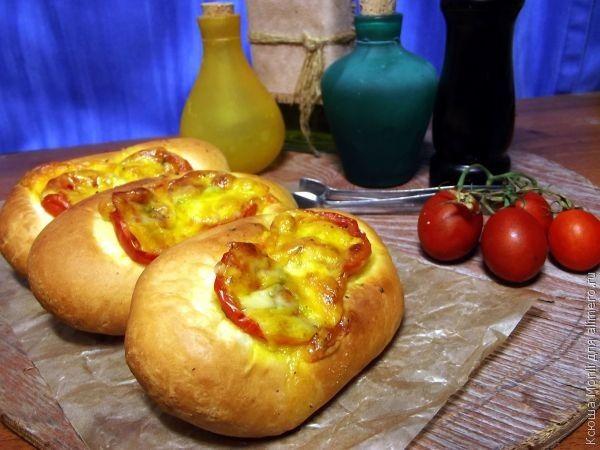 Мини-пиццы Язычки / Рецепты с фото