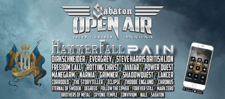 The official homepage for the Swedish heavy metal band Sabaton. Info about tour, tickets, band, lyrics, merchandise and news is always available here.