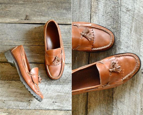 Fringe Loafers Sz 7  //  Womens  Loafers Size 37.5  //  THE WHISKEY