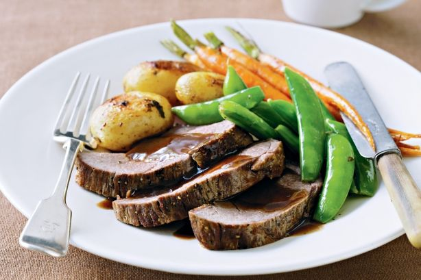 Thought a full roast dinner with all the trimmings meant hours in the kitchen? Think again with this quick and versatile recipe.