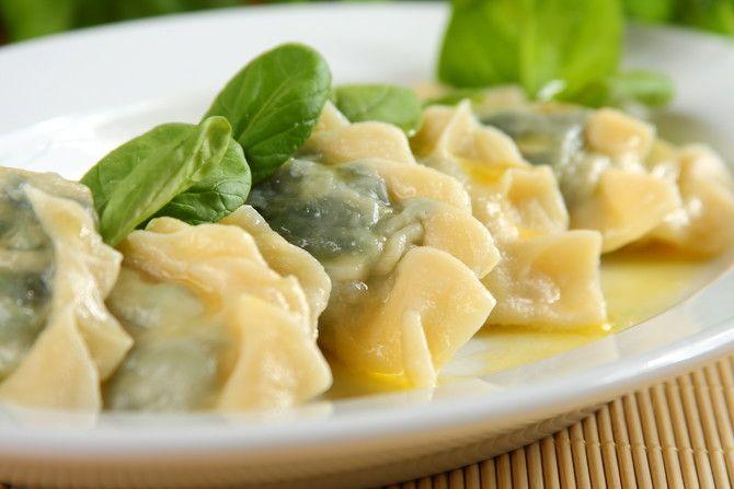 Przepis na Pierogi ze szpinakiem i serem feta