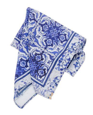 Lenço de Bolso Versatile Azul-Branco
