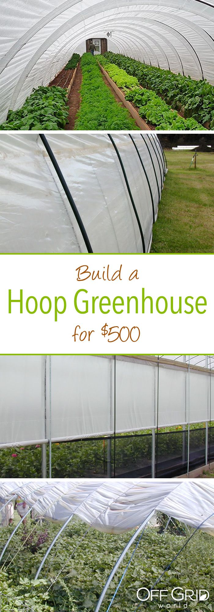 How to build a hoop greenhouse for $500