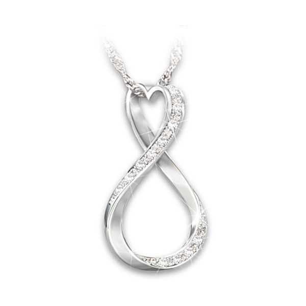 Quot Forever My Daughter Quot Heart And Infinity Diamond Pendant